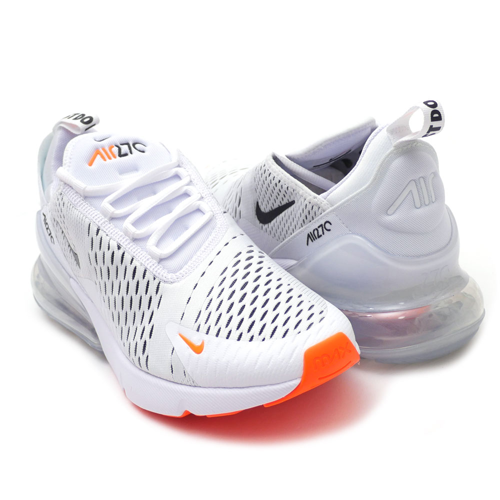 online retailer 3ae4f e5d47 Nike NIKE AIR MAX 270 Air Max WHITE/BLACK/TOTAL ORANGE men AH8050-106  191013111290