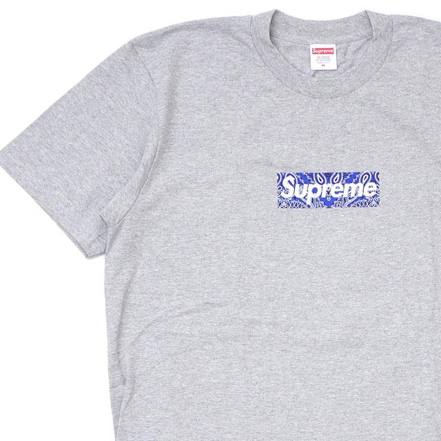 新品 シュプリーム SUPREME Bandana Box Logo Tee バンダナ ボックスロゴ Tシャツ GRAY グレー 灰色 メンズ 新作
