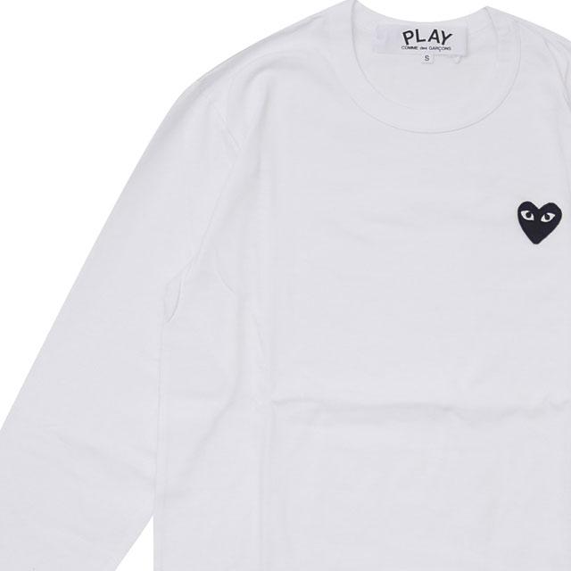 新品 プレイ コムデギャルソン PLAY COMME des GARCONS MENS BLACK HEART WAPPEN LS TEE 長袖Tシャツ WHITE ホワイト 白 メンズ 新作