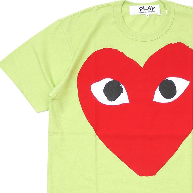 新品 プレイ コムデギャルソン PLAY COMME des GARCONS MENS BIG RED HEART TEE Tシャツ LIGHT GREEN グリーン 緑 メンズ 新作