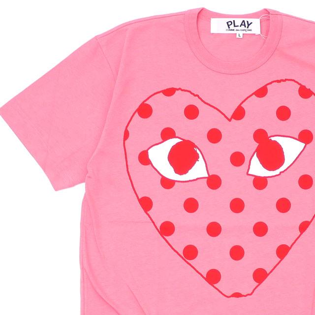 新品 プレイ コムデギャルソン PLAY COMME des GARCONS MENS OUTLINE DOT HEART TEE Tシャツ PINK ピンク メンズ 新作
