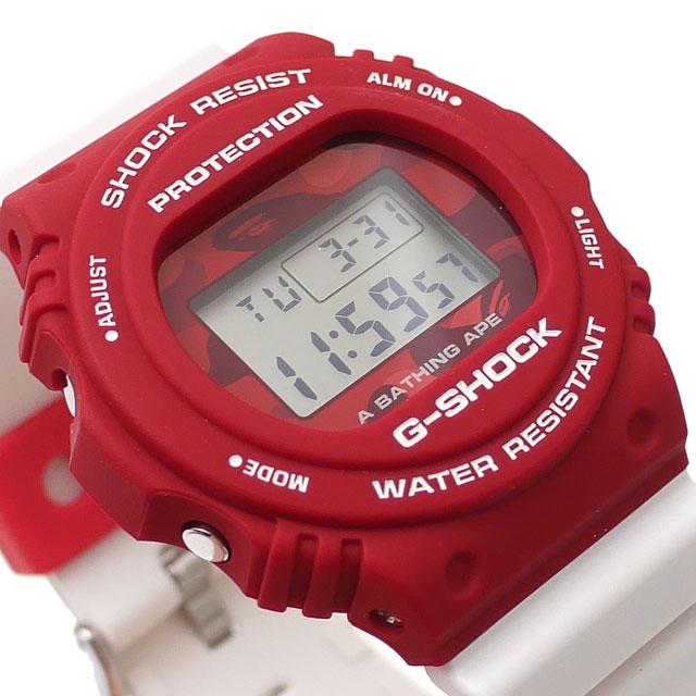 新品 エイプ A BATHING APE x カシオ CASIO 20SS G-SHOCK DW-5750 Gショック WHITExRED ホワイトxレッド 白 赤 メンズ 2020SS 新作 1G23182910
