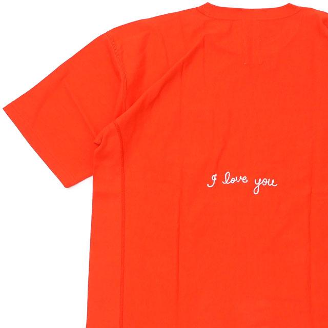新品 ロンハーマン RHC Ron Herman x チャンピオン Champion I Love You Tee リバースウィーブ Tシャツ ORANGE オレンジ メンズ 新作