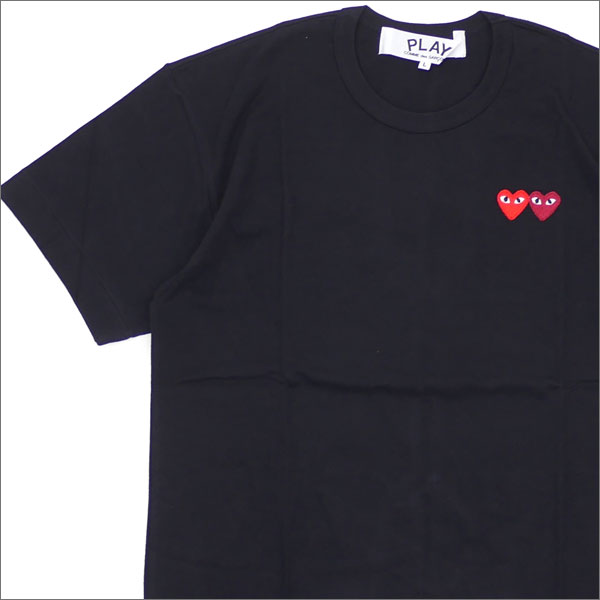PLAY COMME des GARCONS プレイ コムデギャルソン 2HEART TEE Tシャツ BLACK 200007273051