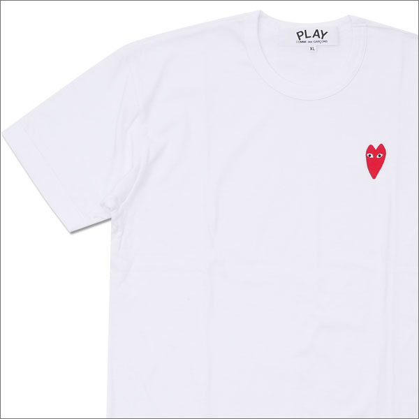 PLAY COMME des GARCONS プレイ コムデギャルソン ONE POINT HEART TEE Tシャツ WHITE 200007283060