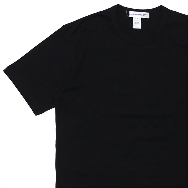 COMME des GARCONS SHIRT コムデギャルソン シャツ Plain Crew Neck Tee Tシャツ BLACK 200007505061