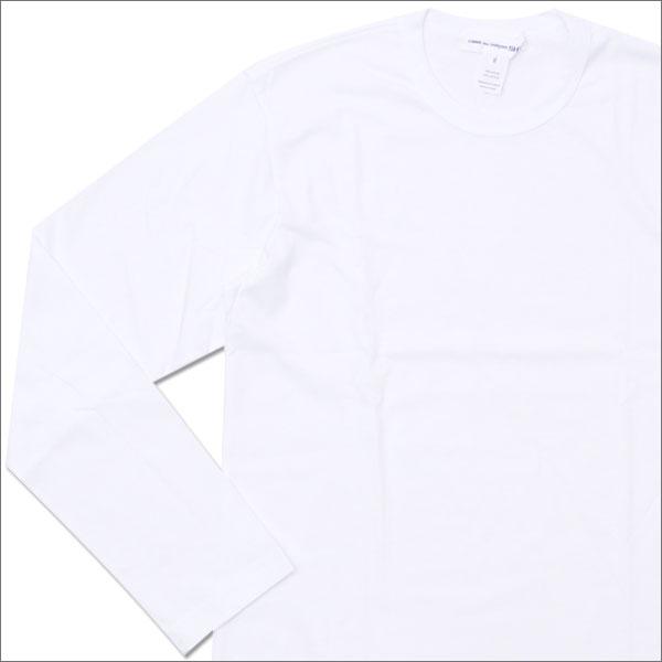 COMME des GARCONS SHIRT コムデギャルソン シャツ Hem Logo Print L/S Tee 長袖Tシャツ WHITE 202000896040x【新品】