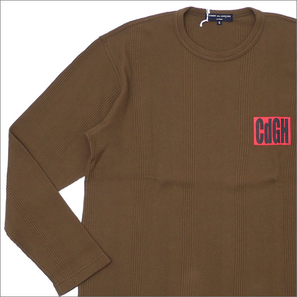 COMME des GARCONS HOMME コムデギャルソン オム CdGH LOGO L/S THERMAL 長袖Tシャツ OD 203000270035x【新品】