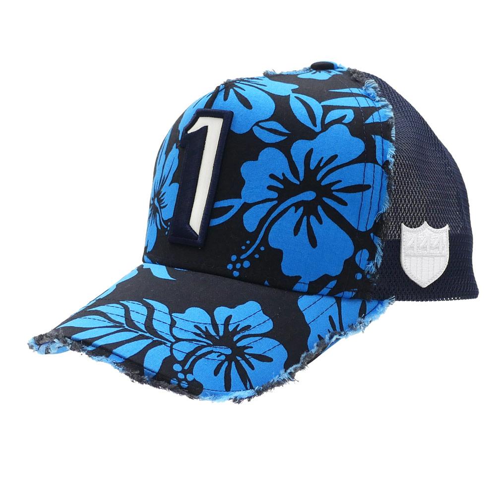 ヨシノリコタケ YOSHINORI KOTAKE 1 LOGO ALOHA MESH CAP キャップ BLACK 251001129011