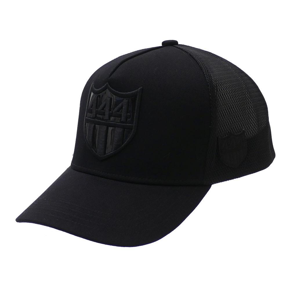 ヨシノリコタケ YOSHINORI KOTAKE x BARNEYS NEWYORK 444 LOGO MESH CAP キャップ BLACKxBLACK 251001255011+【新品】