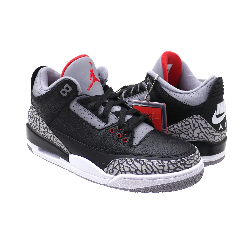 ナイキ NIKE AIR JORDAN 3 RETRO OG エアジョーダン BLACK/FIRE REDCEMENT GREY 854262001 291002383271x【新品】 191012591291