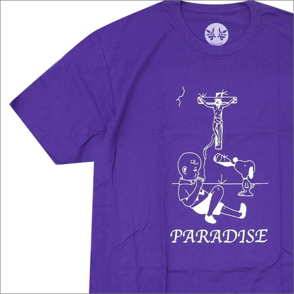 PARADIS3/PARADISE パラダイス Charlie Brown Paradise Tee Tシャツ PURPLE 420000022049