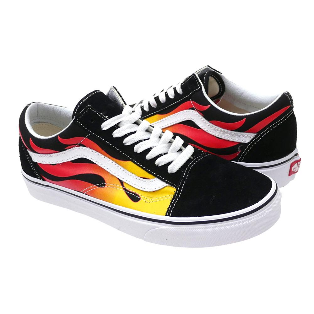20d4a0cea3b0e It is (Flame)Black Black True White 291-002270-251 (sneakers) (shoes) VANS ( vans) Old Skool (old school)