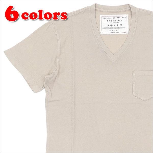 ロンハーマン Ron Herman GREEN DYE POCKET VNECK TEE Tシャツ 200007300033