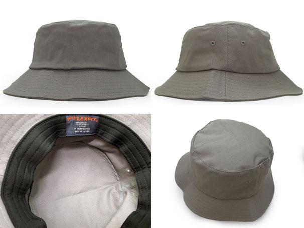 2c65c1c8465 YUPOONG FLEXFIT (유 폰 플렉스 핏) APFFB017 BLANK BUCKET HAT  버킷 햇  GREY  620-001018-012