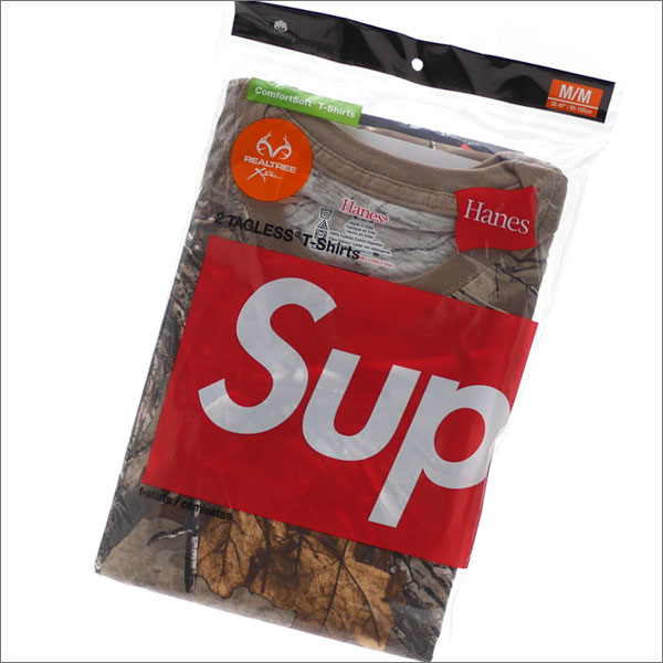 シュプリーム SUPREME x Hanes ヘインズ Realtree Tagless Tees 2 Pack Tシャツ2枚セット WOODBINE 200007652049x【新品】