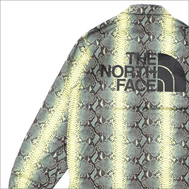 シュプリーム SUPREME x ザ・ノースフェイス THE NORTH FACE Snakeskin Taped Seam Coaches Jacket GREEN 225000373145+【新品】