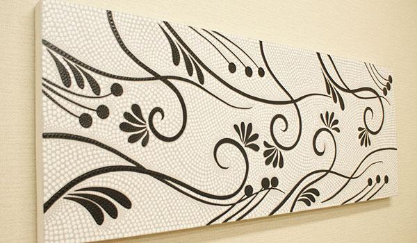 バリ絵画 ドットアート 120×45 S 絵画 インテリア おしゃれ アートパネル 北欧 アジアン バリ 壁掛け モダン アート ファブリックパネル ドットペインティング