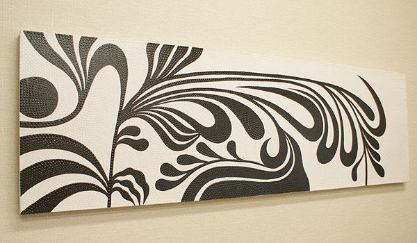 バリ絵画 ドットアート 160×50 Ab01 大型サイズ アートパネル アジアン バリ 絵画 壁掛け アート インテリア ファブリックパネル 北欧 モダン