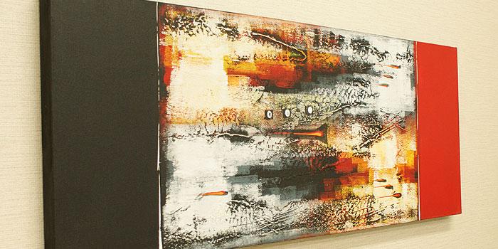 バリ絵画 モダンアート 120×45 14 絵画 インテリア おしゃれ 壁掛け 絵 アートパネル 北欧 アジアン バリ ファブリックパネル