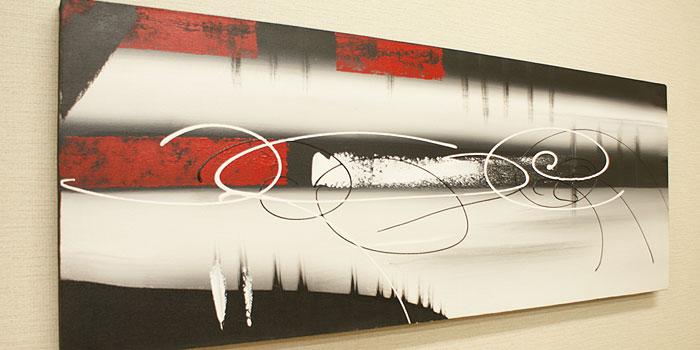 バリ絵画 モダンアート 120×45 18 アートパネル 北欧 バリ 絵画 壁掛け アート インテリアアートパネル アジアン モダン 抽象画 アブストラクト ファブリックパネル