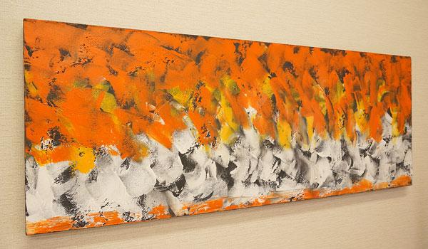 バリ絵画 モダンアート 120×45 32 アートパネル 絵画 インテリア おしゃれ 壁掛け 絵 モダン アート アジアン 北欧 抽象画