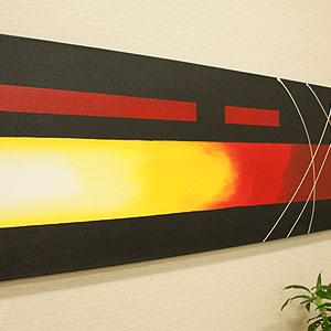 バリ絵画 モダンアート 120×45 17 アートパネル 絵画 おしゃれ 壁掛け 絵 モダン アート アジアン 北欧 抽象画