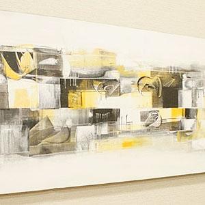 バリ絵画 モダンアート 120×45 22 アートパネル 絵画 壁掛け アート アジアン バリ 北欧 モダン 抽象画 アジアン雑貨