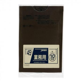 驚きの価格が実現 ジャパックス スタンダードカラーポリ袋45L 茶 最新 10枚×60冊 CCB45 メーカー直送のため配送日時指定 代引不可※前払い決済は 同梱 支払い後の注文確定となります