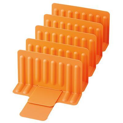 吉川国工業所 格安激安 スライドできる 冷凍庫スタンド 仕切り5枚 Or 同梱 オレンジ STK-02 代引き不可 お得セット