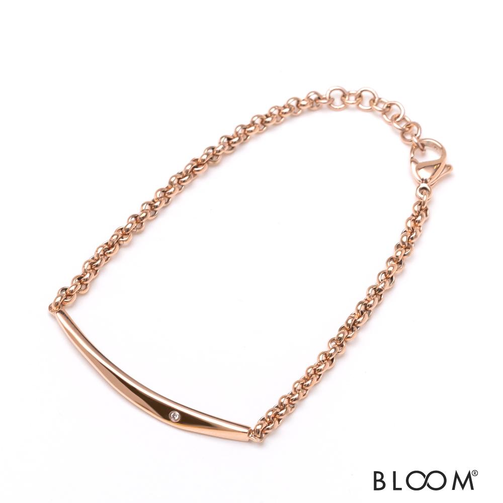 ダイヤモンドが輝くシンプルデザインはプレゼントにも ブレスレット レディース ダイヤモンド ステンレス ファインスティール シンプル ペア 格安 価格でご提供いたします BLOOM ブルーム ギフト 定価 アレルギー対応 記念日 贈り物 プレゼント ブランド 誕生日 ジュエリー アクセサリー