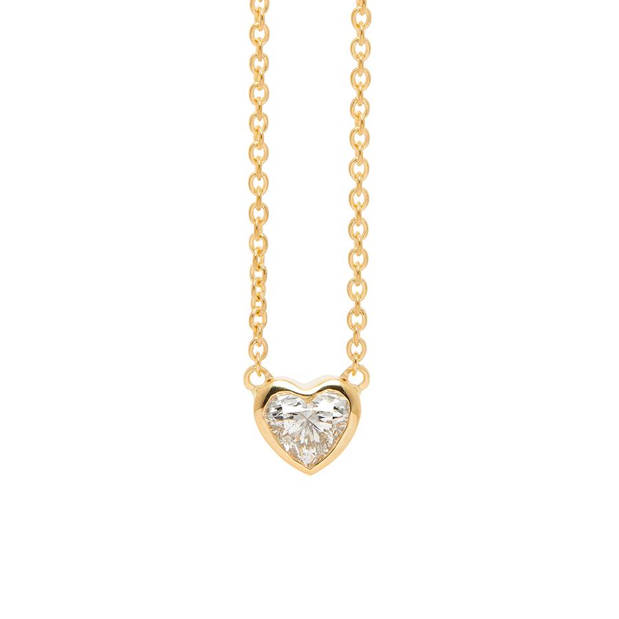 ダイヤモンド 18k 18金 ネックレス Price K18 0.3カラット イエローゴールド レディース 】 エステール ハート 【 ESTELLE Value