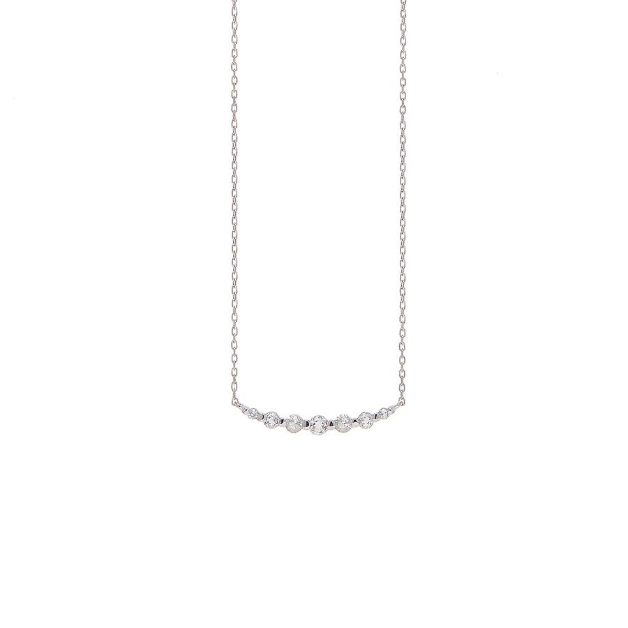 ネックレス レディース トパーズ K10 ホワイトゴールド 10k 10金 シンプル 【 ESTELLE エステール 】
