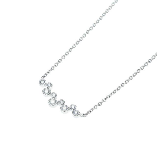 ネックレス レディース ダイヤモンド K18 ホワイトゴールド 18k 18金 【 ESTELLE エステール 】
