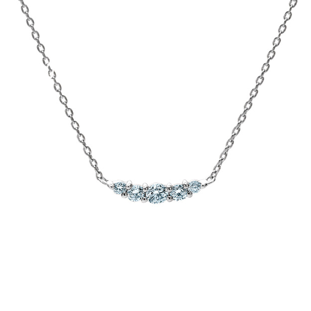 ネックレス レディース ダイヤモンド K18 ホワイトゴールド 18k 18金 0.1カラット 【 ESTELLE エステール 】