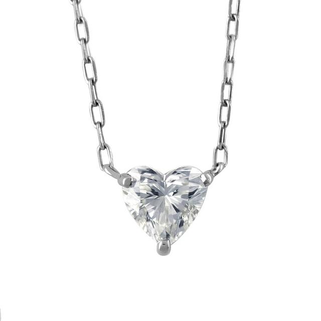 ネックレス レディース ダイヤモンド シンプル プラチナ 一粒 0.3カラット 【 ESTELLE エステール 】