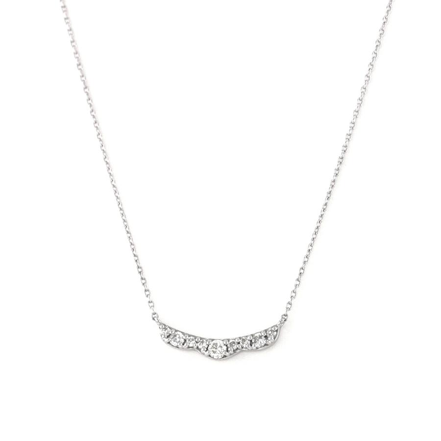 ネックレス レディース ダイヤモンド シンプル K18 ホワイトゴールド 18k 18金 【 ESTELLE エステール 】