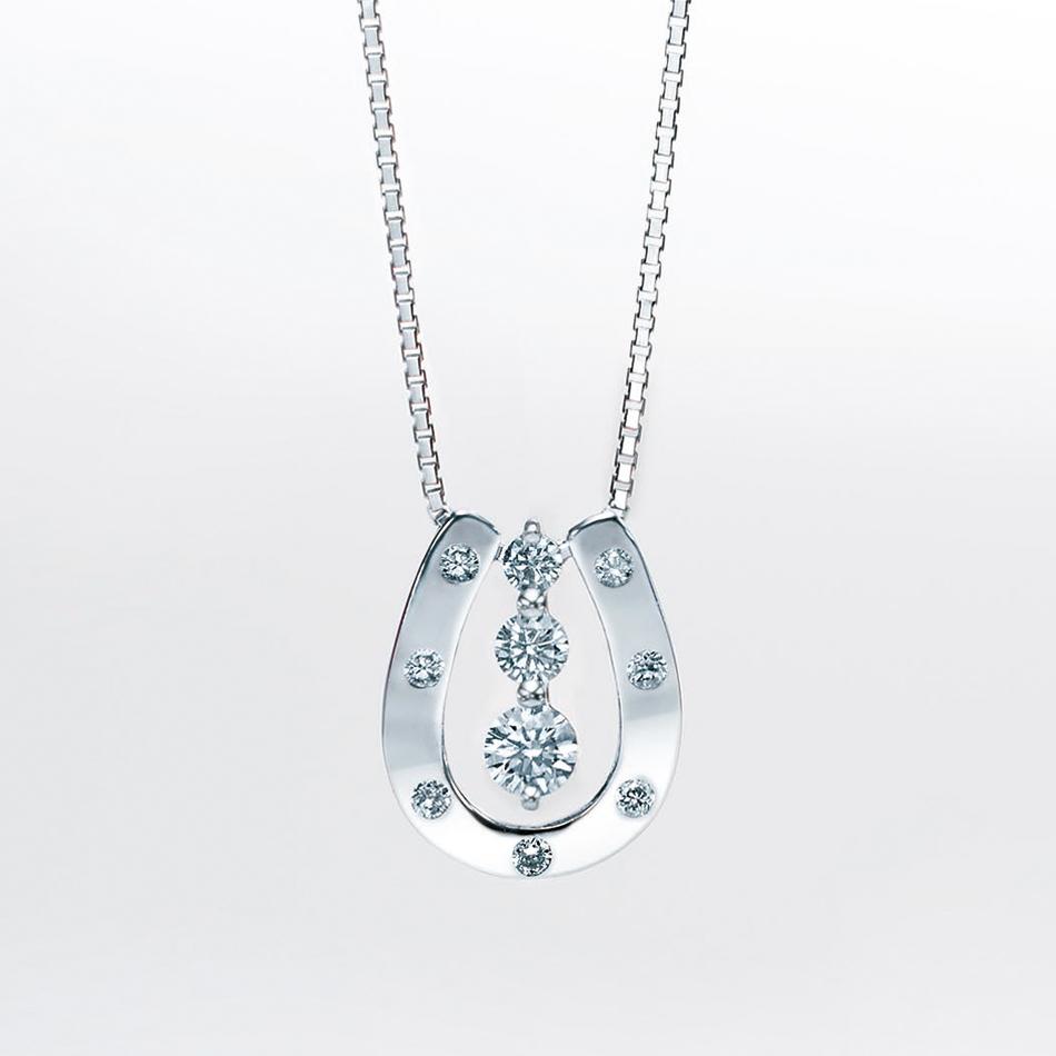 ネックレス レディース ダイヤモンド シンプル プラチナ 0.2カラット 【 ESTELLE エステール 】