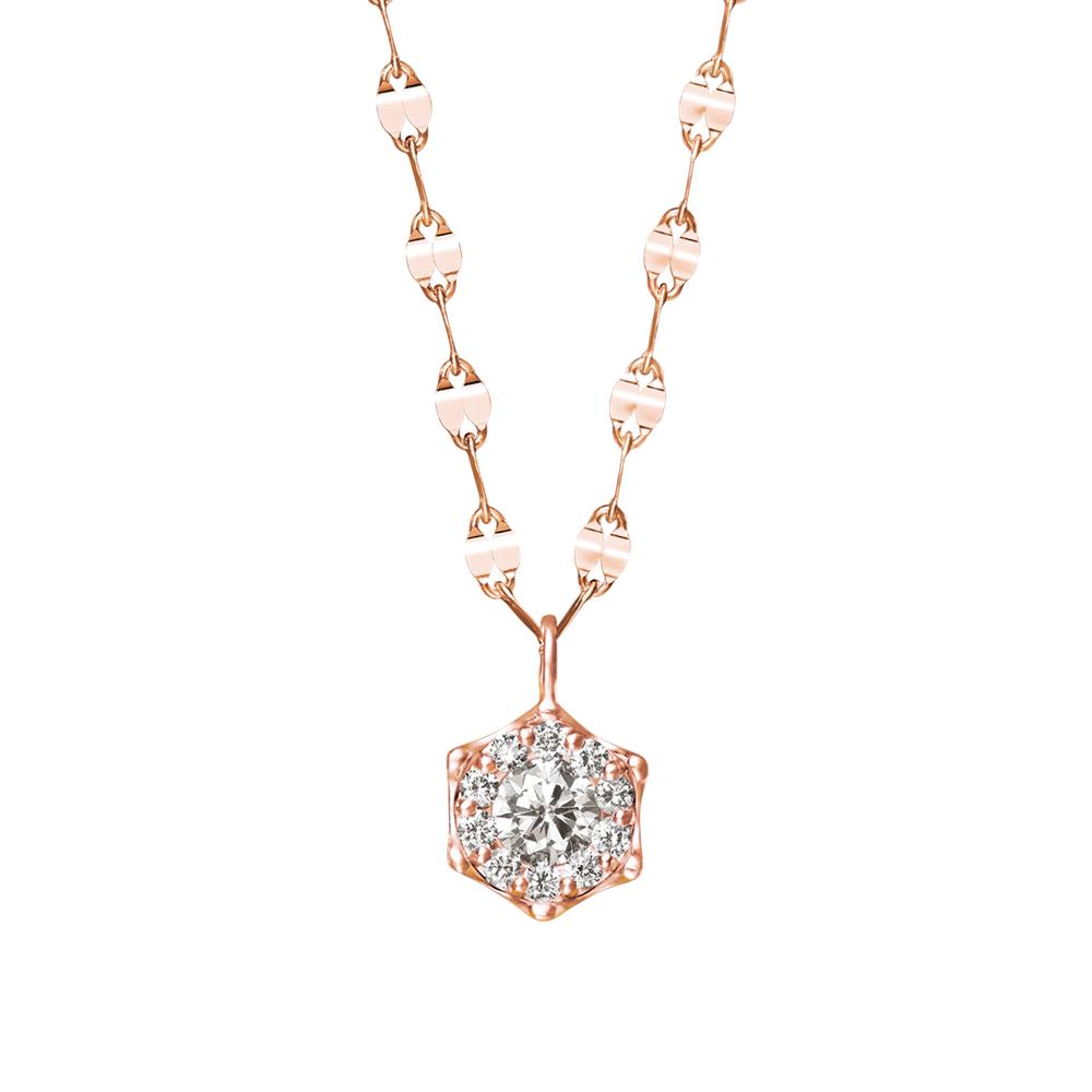 ネックレス レディース ダイヤモンド シンプル K18 ピンクゴールド 18k 18金 0.31カラット ロングネックレス 【 ESTELLE エステール 】
