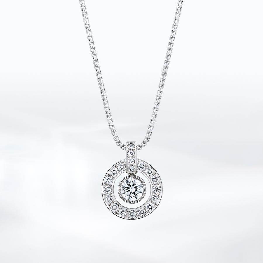 ネックレス レディース ダイヤモンド シンプル プラチナ 0.35カラット 【 ESTELLE エステール 】
