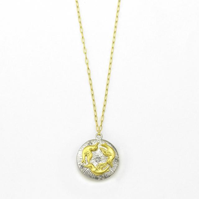 ネックレス レディース ダイヤモンド K18 イエローゴールド 18k 18金 【 GOODNESS グッドネス】