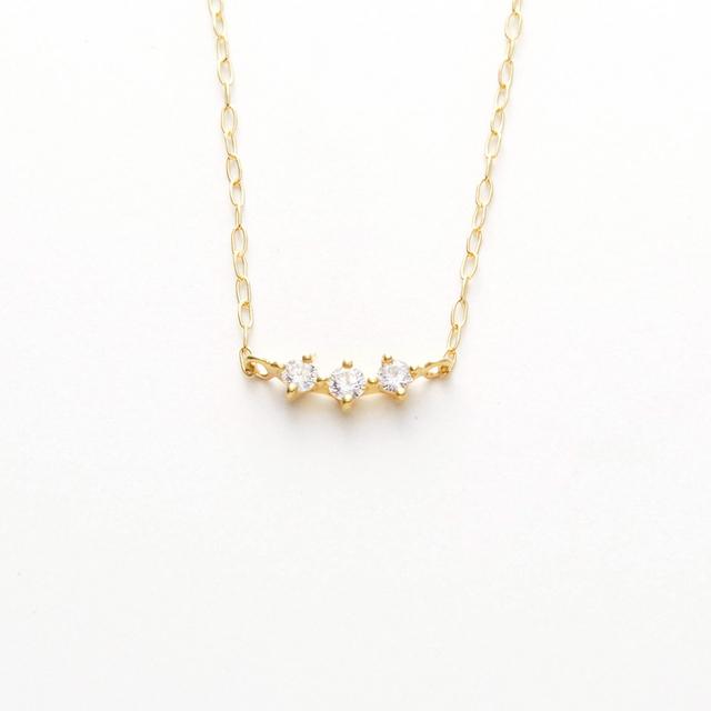 ネックレス レディース ダイヤモンド シンプル K18 イエローゴールド 18k 18金 【 GOODNESS グッドネス 】