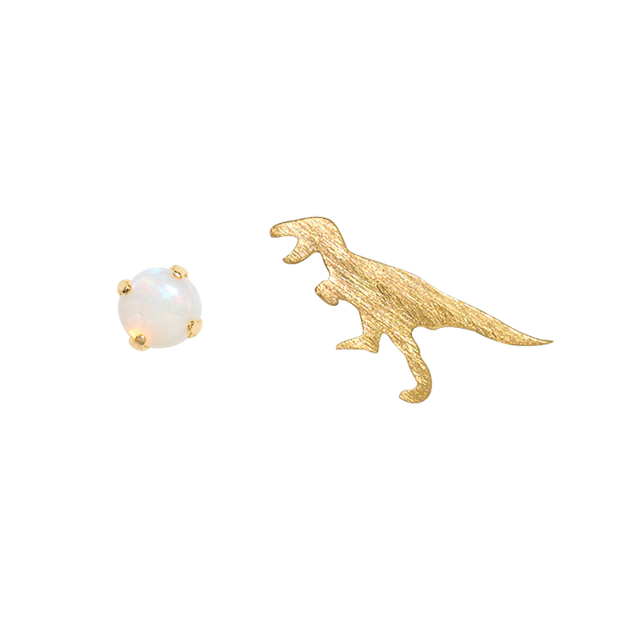 ピアス レディース オパール K10 イエローゴールド 10k 10金 ティラノサウルス 【 BLOOM ブルーム 】