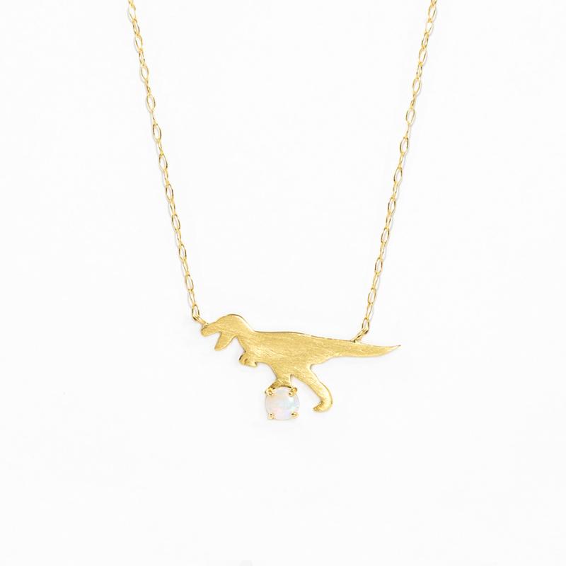 ネックレス レディース オパール K10 イエローゴールド 10k 10金 ティラノサウルス 【 BLOOM ブルーム 】