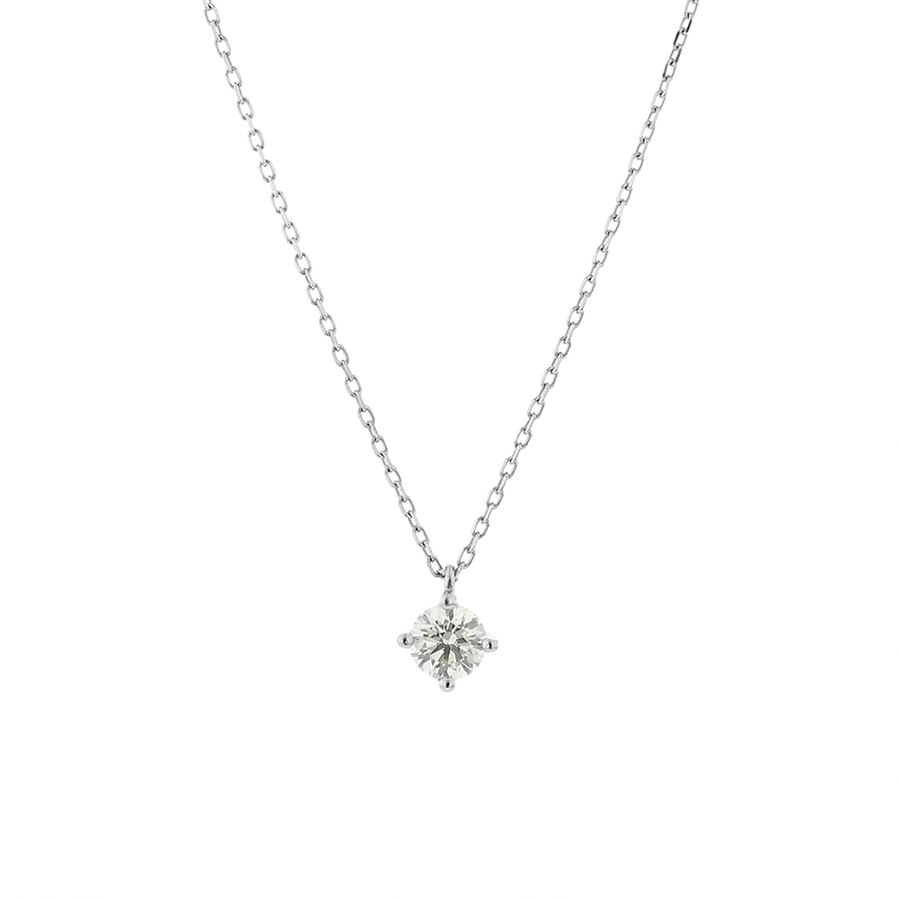 ネックレス レディース ダイヤモンド プラチナ シンプル 0.25カラット 一粒 【 BLOOM ブルーム 】