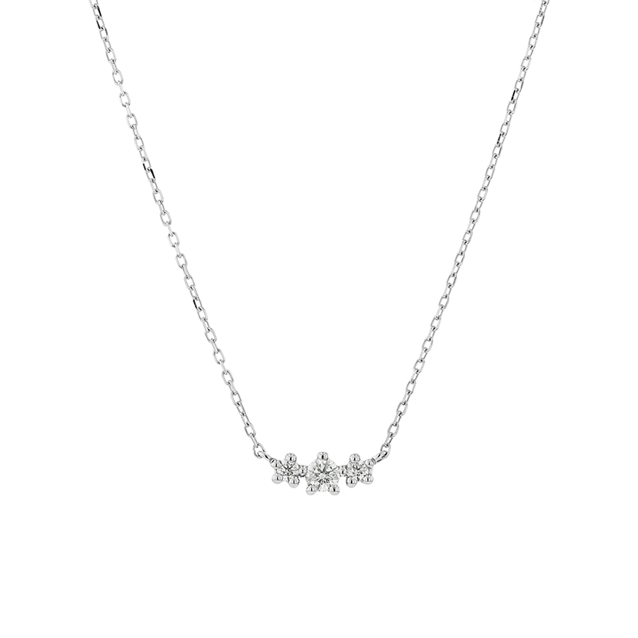 ネックレス レディース ダイヤモンド プラチナ シンプル 0.1カラット 【 BLOOM ブルーム 】