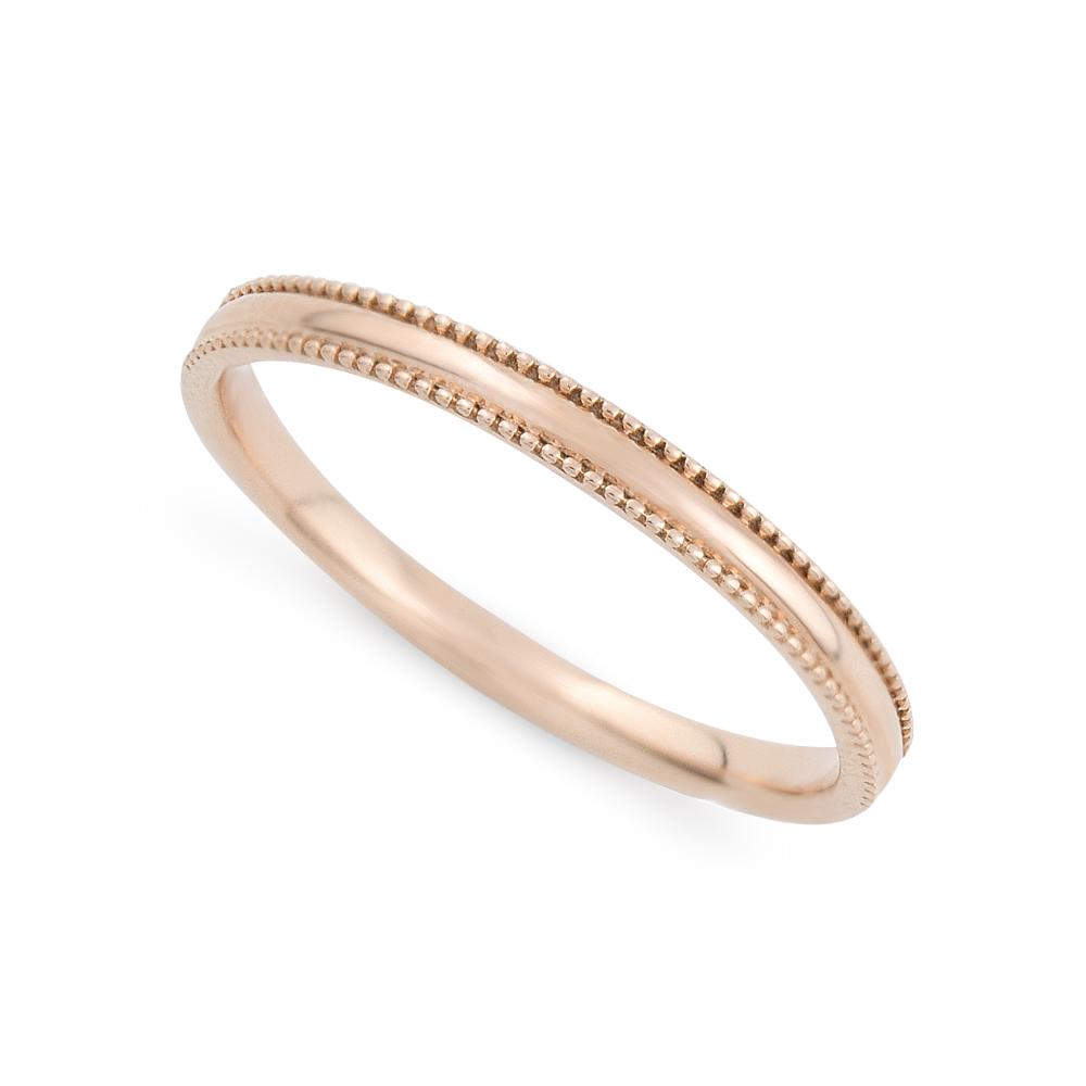 さりげないミル打ちが可愛い華奢な指輪はデイリーコーデにも ペアリング レディース K10 ピンクゴールド シンプル 10k 10金 BLOOM ランキングTOP5 記念日 ブルーム プレゼント アクセサリー ブランド 店内全品対象 誕生日 ギフト 贈り物 ジュエリー