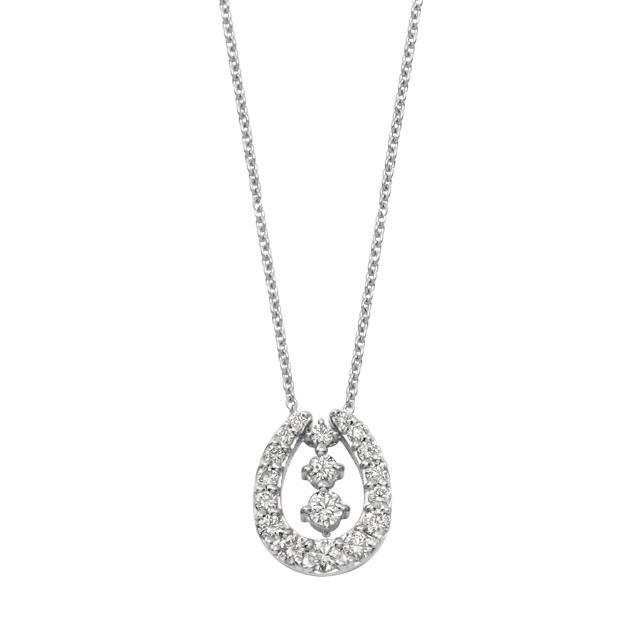 ネックレス レディース ダイヤモンド シンプル プラチナ 0.3カラット 3WAY 【 ESTELLE エステール 】