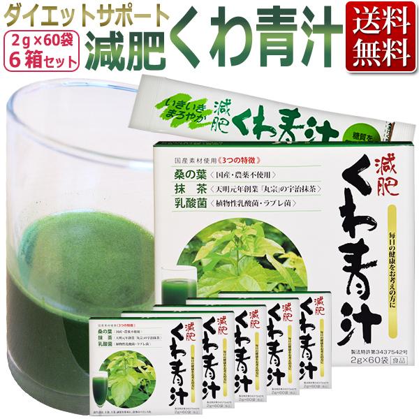 減肥 くわ青汁 6箱セット (2g×60袋×6箱)ミナト製薬/ T001 /