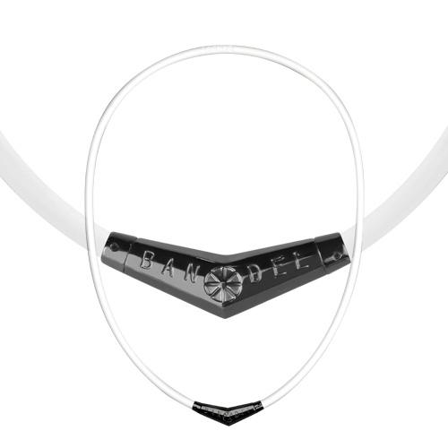バンデル チタンラバー ネックレス(White × Black) Bandel Titan Rubber Necklace チタンラバーネックレス